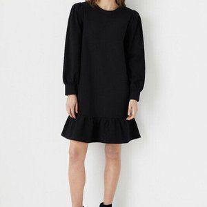 Ann Taylor Sweatshirt Peplum Cotton Dress Medium